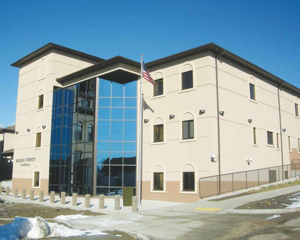 File Photo The McLean County Courthouse was completed in 2012, replacing a 1907 structure.