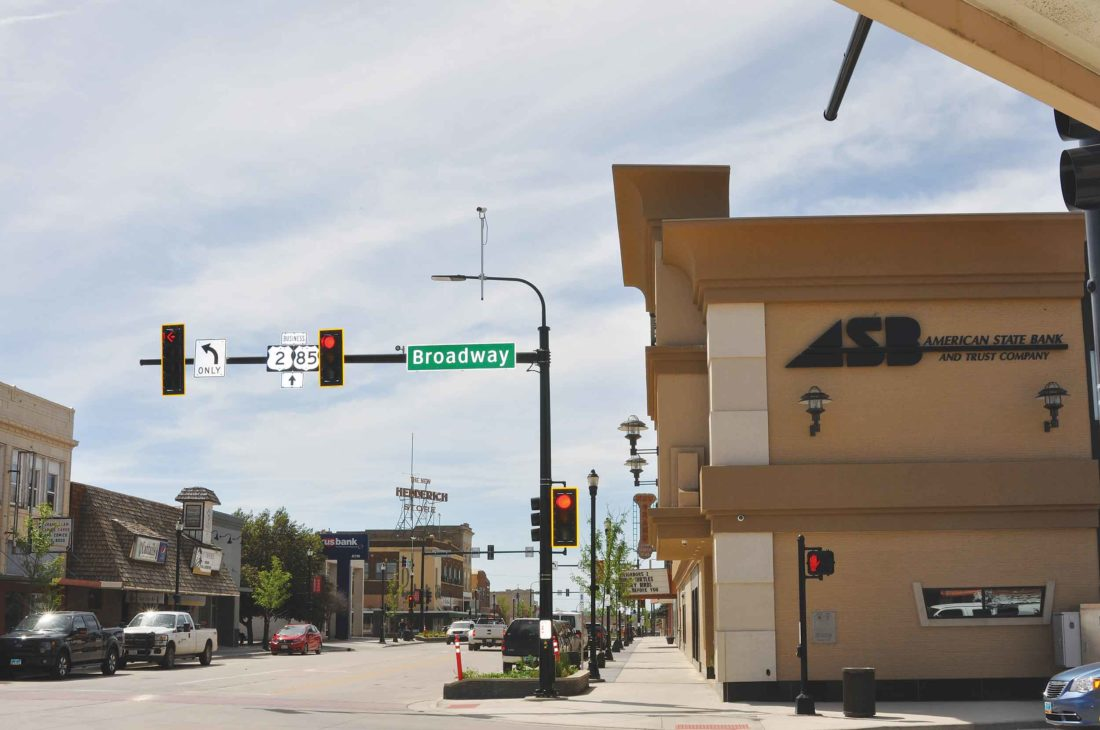 Submitted Photo  Downtown Williston is a thriving area.