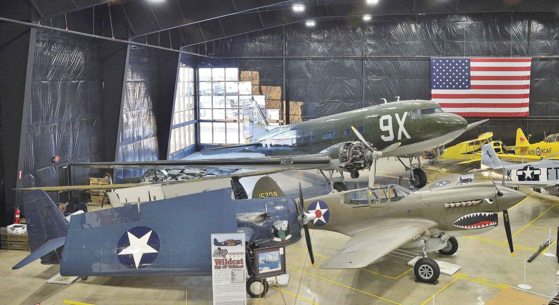 Eloise Ogden/MDN Planes belonging to the Texas Flying Legends Museum are shown in the Flying Legends Hangar at the Dakota Territory Air Museum in Minot. The hangar was dedicated July 4, 2013.