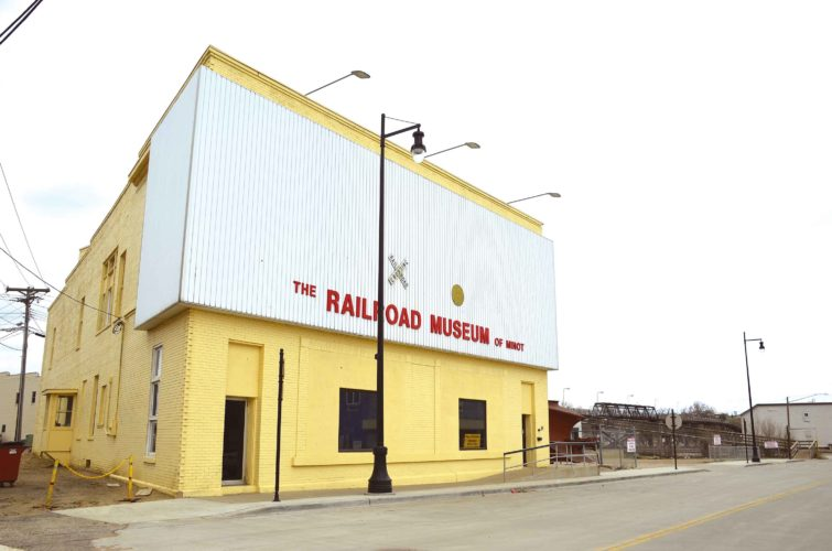 Eloise Ogden/MDN The Railroad Museum of Minot in downtown Minot has many new projects under way to provide more activities for visitors.