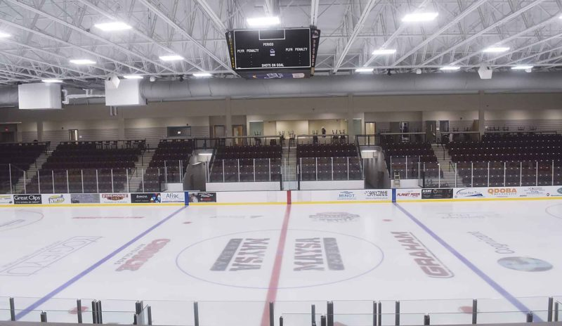 Garrick Hodge/MDN The Pepsi Center at Maysa Arena opened to the public for the first time on Nov. 10, 2016, when the Minot Minotauros hosted Bismarck.
