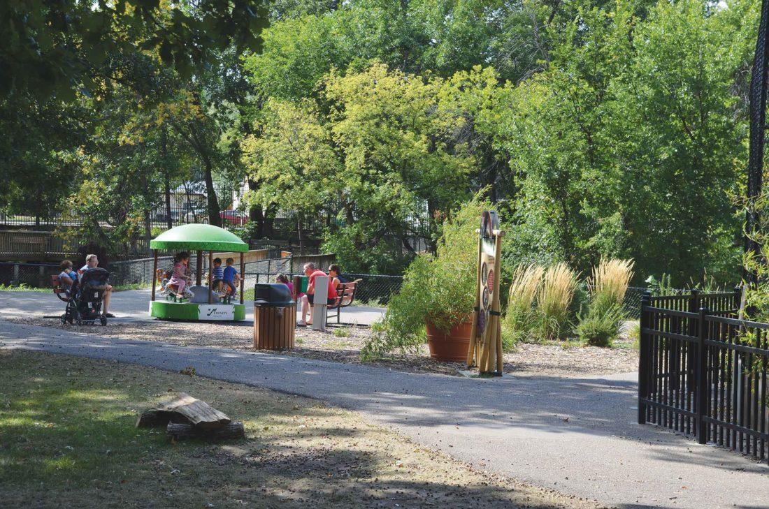 Eloise Ogden/MDN  Visitors enjoy Roosevelt Park Zoo on a summer day.