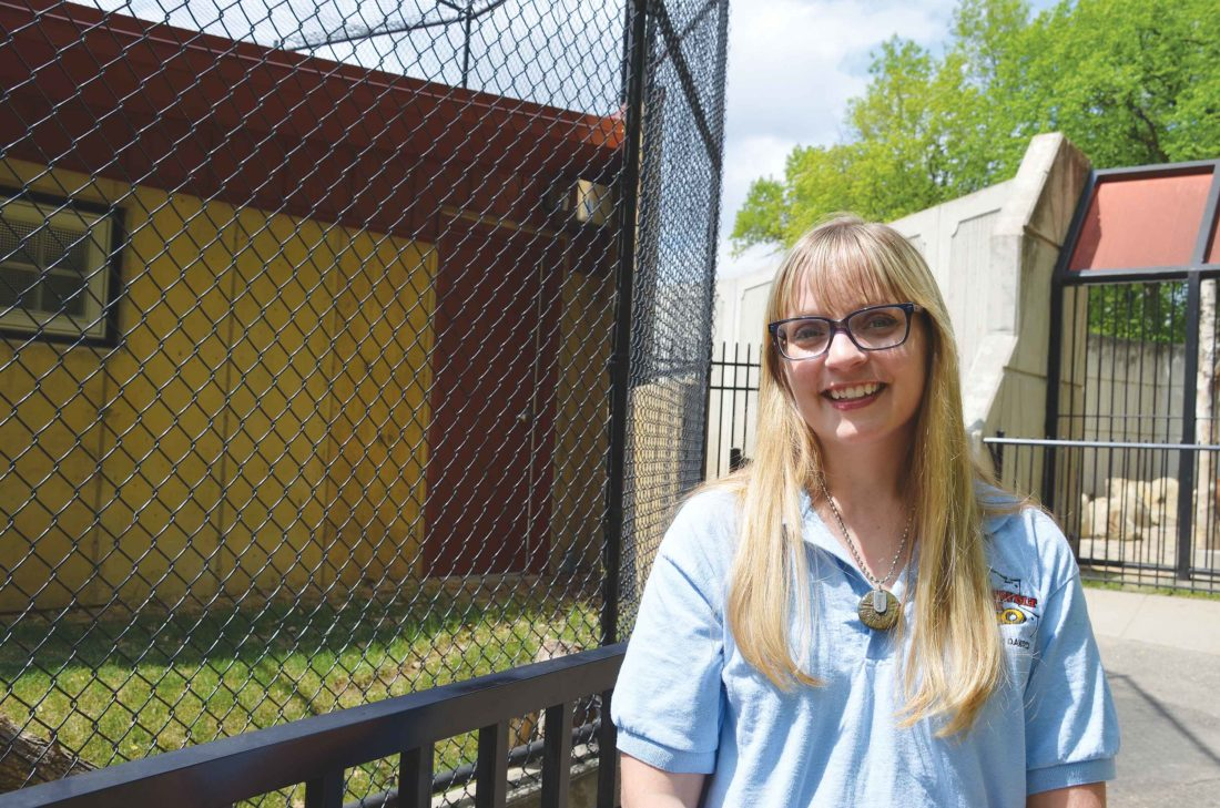 Eloise Ogden/MDN   Increasing the visitors' experience is a major focus for the 2017 season at Roosevelt Park Zoo, according to Becky Dewitz, zoo director.