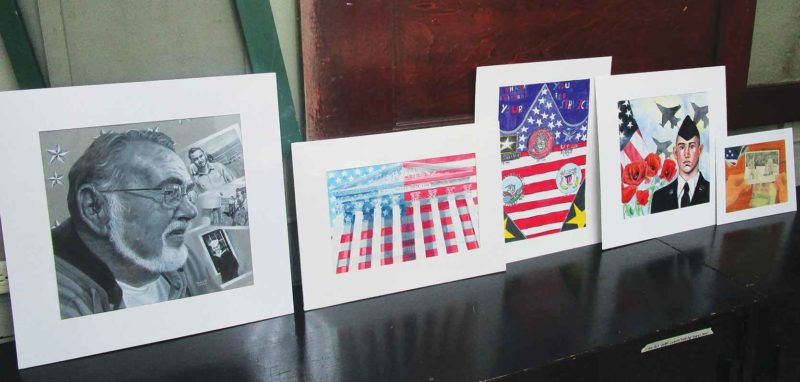 Submitted Photo  Artists across North Dakota saluted the brave men and women of the military with paintings and drawings for the Young American Creative Patriotic Art Contest, hosted by the VFW Auxiliary. In addition to presenting personal tributes, students are competing for a $10,000 scholarship.
