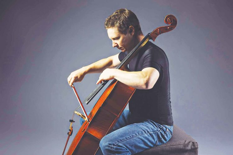 Submitted Photo During concerts, Erik Anderson is known to rock his cello by swaying side-to-side when performing extremely difficult and entertaining pieces.