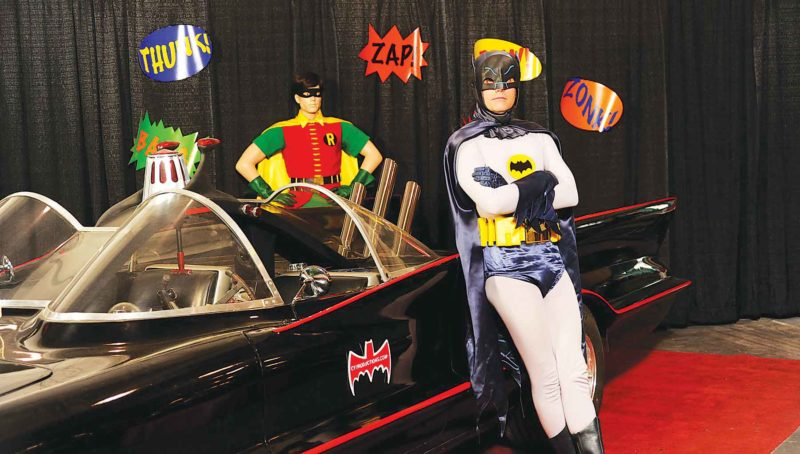 Submitted Photo  The original Batmobile used in the 1960s TV series, along with Adam West look alike Clint Young, will be at iMagicon.