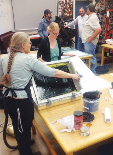 Submitted Photo  Minot area printmakers are welcomed to study, design and create personal messages and symbolic stories with MSU students, faculty and community members.