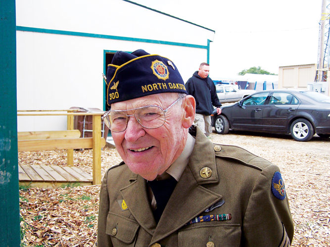 Eloise Ogden/MDN Dr. Herbert J. Wilson wore his World War II uniform to the Lewis and Clark Bicentennial celebration near New Town in August 2006. Wilson, a longtime physician on the Fort Berthold Reservation, flew 31 missions during World War II.