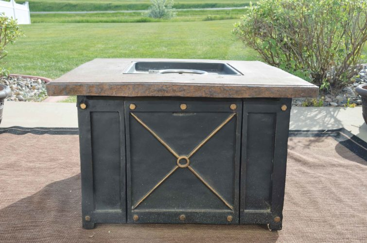 Eloise Ogden/MDN  Outdoor fire containers should be placed a safe distance from structures and combustible materials.