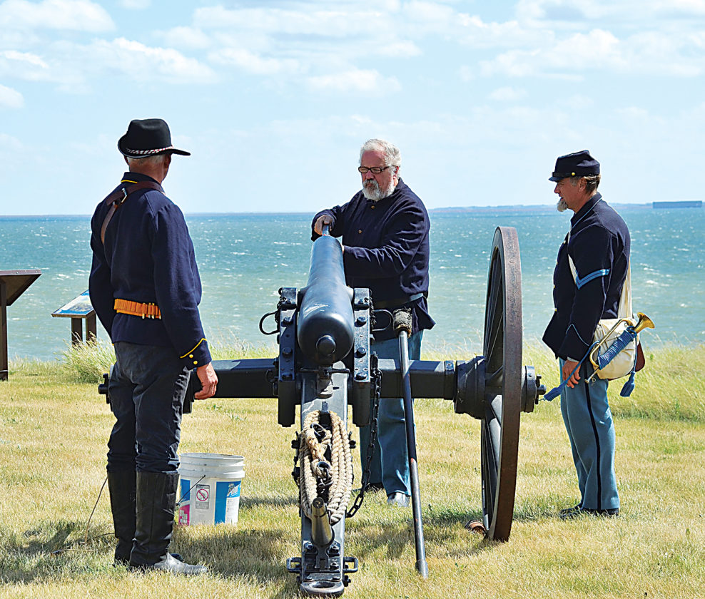 Eloise Ogden/MDN A cannon presentation and firing will be held at 1 and 4 p.m. daily on Saturday and Sunday during Frontier Military Days at Fort Stevenson State Park, south of Garrison. The photo was taken during the 2016 event. This is the 25th year of the event.