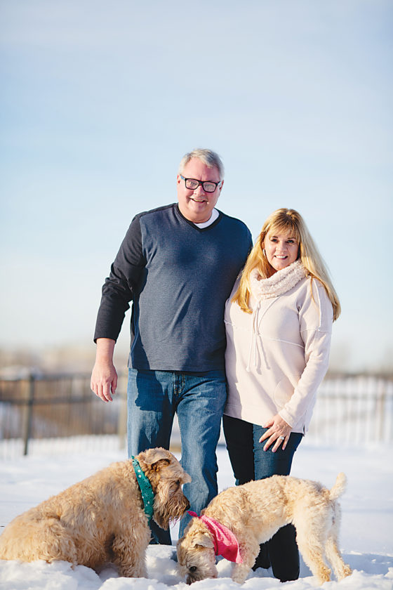 Submitted Photo From traveling together to playing with their canine companions Tucker and Daisy, Tim and Deanna Reiten look forward to building a new life in the Magic City.