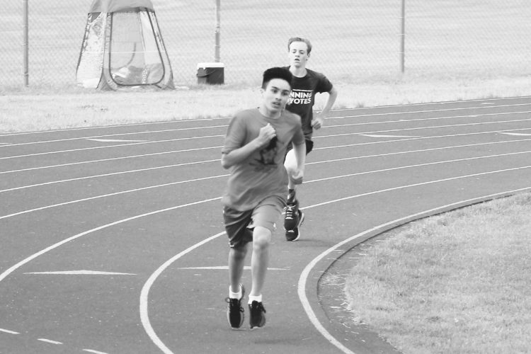 Submitted Photo Kye Keplin, a soon to be seventh grader at Jim Hill Middle School, collected a pair of state championships at the North Dakota State Youth Track Meet on June 17 in Fargo. The youngster Keplin claimed the 1,600 meter title with a time of five minutes and 19.43 seconds and the 800-meter run with a mark of 2:29.43.