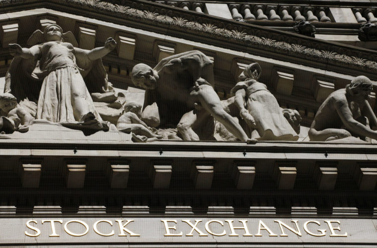 FILE - This July 15, 2013, file photo, shows the New York Stock Exchange. Stocks are rising, Wednesday, June 28, 2017, as continued gains in bond yields and interest rates give banks and financial companies another lift. (AP Photo/Mark Lennihan, File)