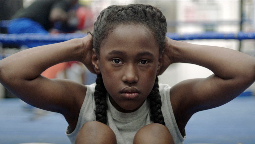 "This image released by Oscilloscope shows Royalty Hightower in a scene from ""The Fits,"" a film about an 11-year-old girl who learns about gender and identity through dance. (Oscilloscope  via AP)"
