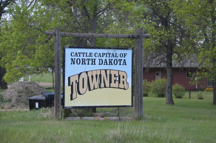 "Eloise Ogden/MDN This is one of the signs saying Towner is ""Cattle Capital of North Dakota."""