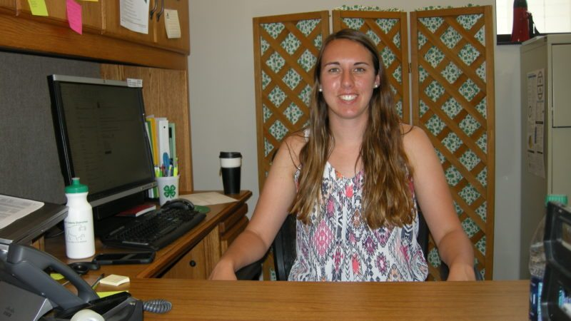 Andrea Johnson/MDN Emily Goff, Ward County NDSU Extension Agent for 4-H Youth and Development, in her office.
