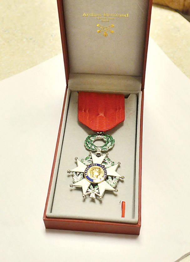 Eloise Ogden/MDN This is the Knight of the Legion Honor medal.