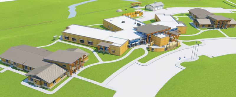 Submitted Art An architect's rendering shows the Drug Treatment Center being built by the Three Affiliated Tribes on the north side of Bismarck. Construction began in December. The center is scheduled for completion in mid-2018.