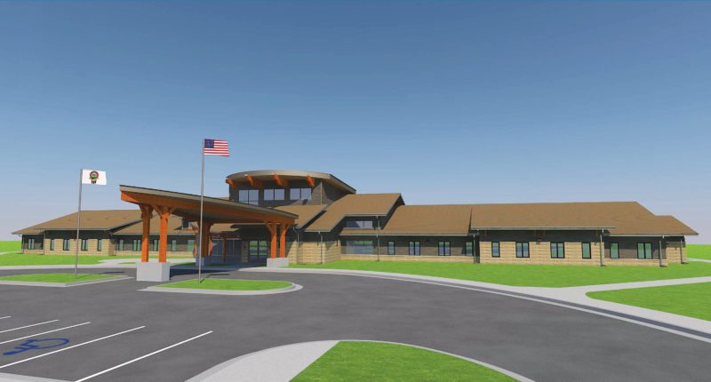 Submitted Art This architect's rendering shows the Three Affiliated Tribes' assisted living facility project that will be built in Parshall. Construction on the project will start soon.