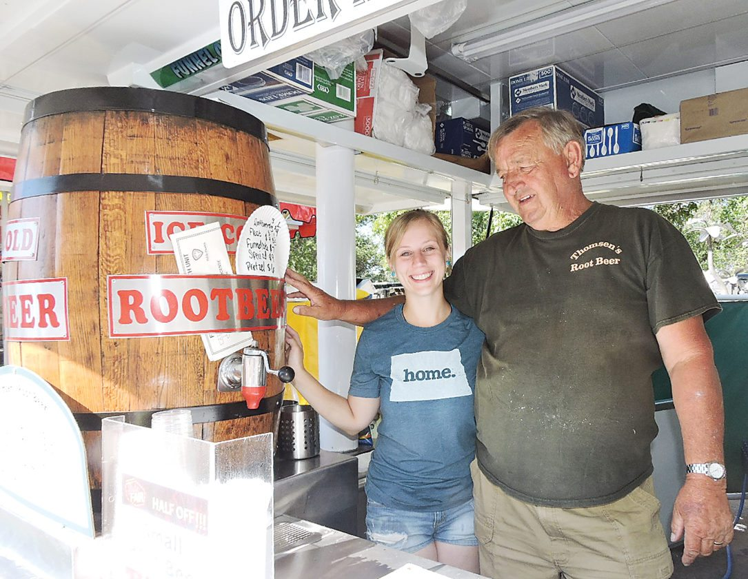 Kim Fundingsland/MDN Thomsen root beer got its start in the 1920s and has been featured at the North Dakota State Fair for  several generations.