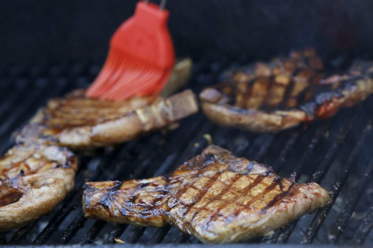 Pork is marinaded in soy sauce, rice vinegar and brown sugar. Michael Vosburg / Forum Photo Editor