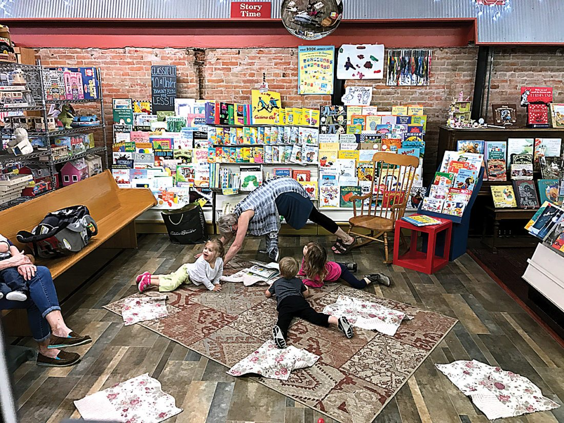Submitted Photo Story Time at Main Street Books is always a family favorite.
