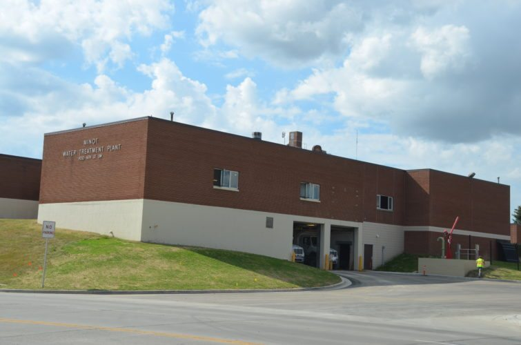 Mandatory water ration for city of Minot due to complications at the treatment plant.