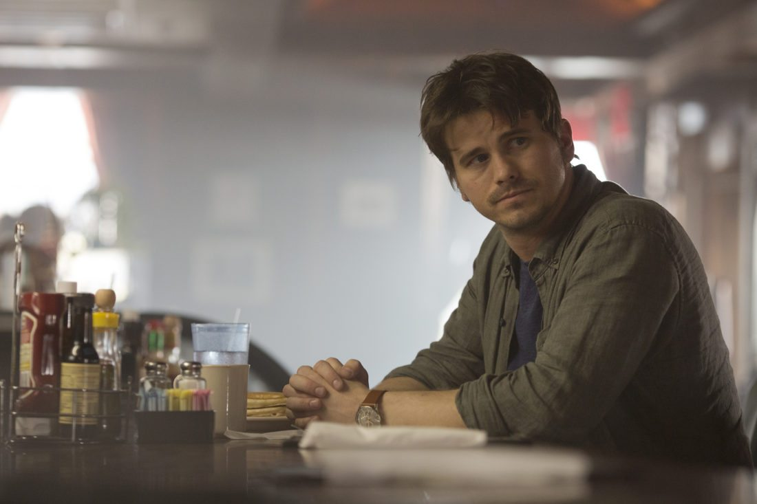 """This image released by ABC shows Jason Ritter in a scene from """"Kevin (Probably) Saves the World,"""" premiering Oct. 3 on ABC. (Ryan Green/ABC via AP)"""