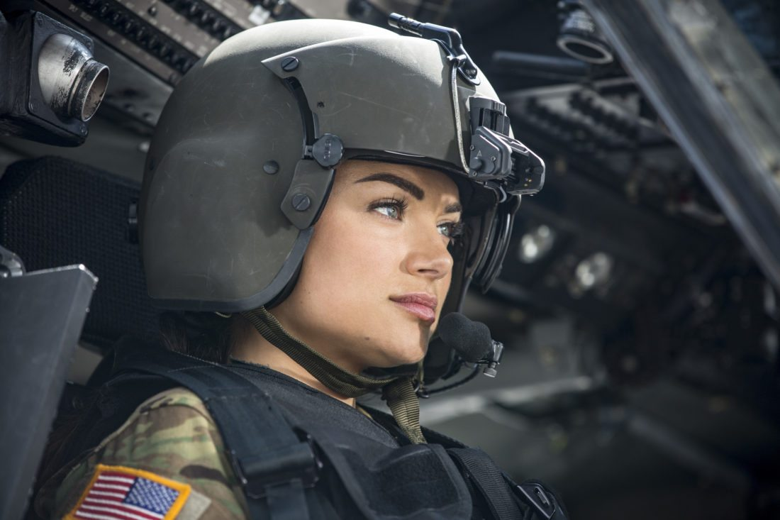 """This image released by The CW shows Christina Ochoa in a scene from """"Valor,"""" premiering Oct. 9 on The CW. (Erika Doss/The CW via AP)"""