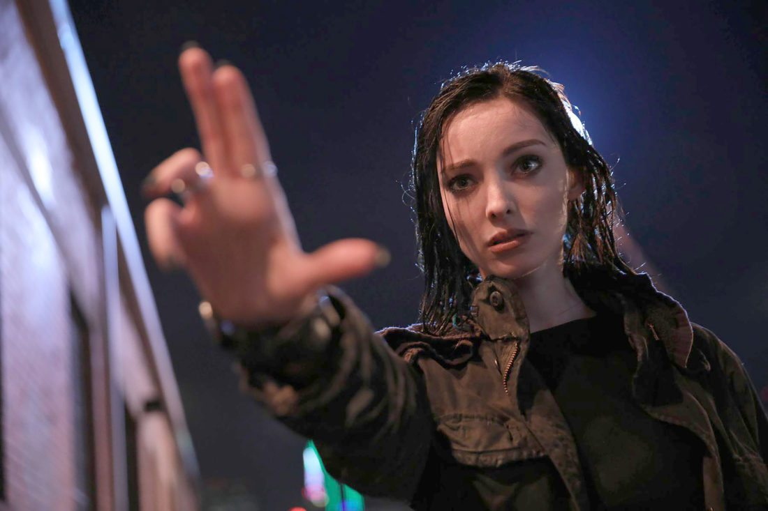"""This image released by Fox shows Emma Dumont in a scene from """"The Gifted,"""" premiering Monday, Oct. 2 on FOX. (Ryan Green/FOX via AP)"""