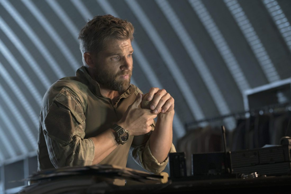 """This image released by NBC shows Mike Vogel in a scene from """"The Brave,"""" premiering Sept. 25 on NBC. (Virginia Sherwood/NBC via AP)"""