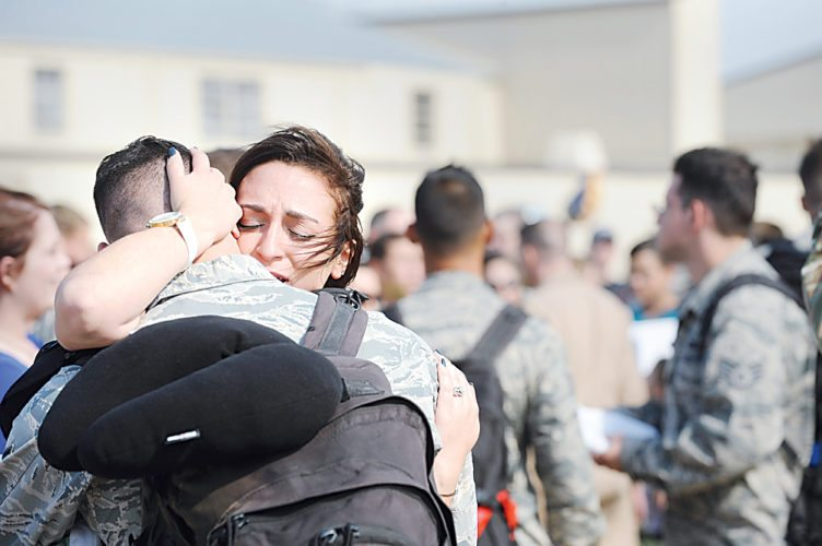 Courtesy of Minot Air Force Base Public Affairs More than 400 airmen from Minot Air Force Base who were deployed earlier this year in the Middle East supporting U.S. Central Command's Operation Inherent Resolve, a combined joint task force operation to eliminate ISIS terrorist groups in Iraq and Syria, came home Monday. Several B-52s from the base's 23rd Bomb Squadron and airmen from the 23rd and other base units including the 5th Aircraft Maintenance Squadron, 5th Munitions Squadron, 5th Maintenance Squadron and 5th Operations Support Squadron were deployed March 9.