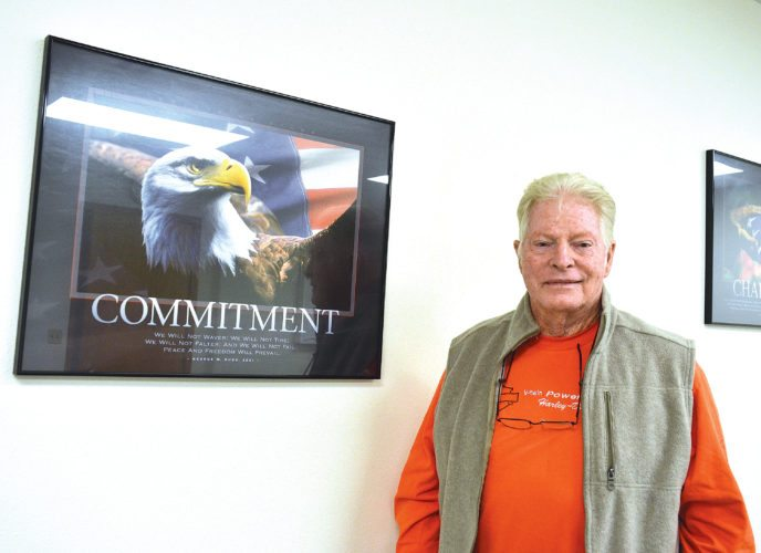 Eloise Ogden/MDN Bob Herrington of Minot spent 30 years in the U.S. Air Force. He's seen numerous changes in the Air Force and at Minot Air Force Base over the years. On Sept. 18, the Air Force celebrates its 70th anniversary as a separate military branch.