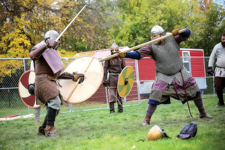 Submitted Photo The Viking Village offers food, entertainment and attractions at the Norsk Høstfest, including reenactments of battles, as seen in this photo.