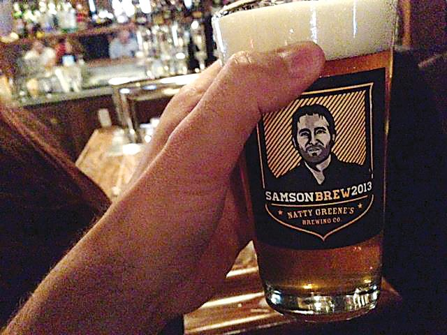 Submitted Photo Samson Brew, produced by Natty Greene's Brewing Co., was the product of Derek Samson's pursuit of random fun, like his upcoming visit to North Dakota.