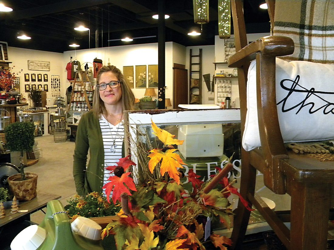 "Kent Olson/MDN Rachael Walz, owner of The Foundry, has but one word to describe how her new home decor store has turned out; ""Awesome."""