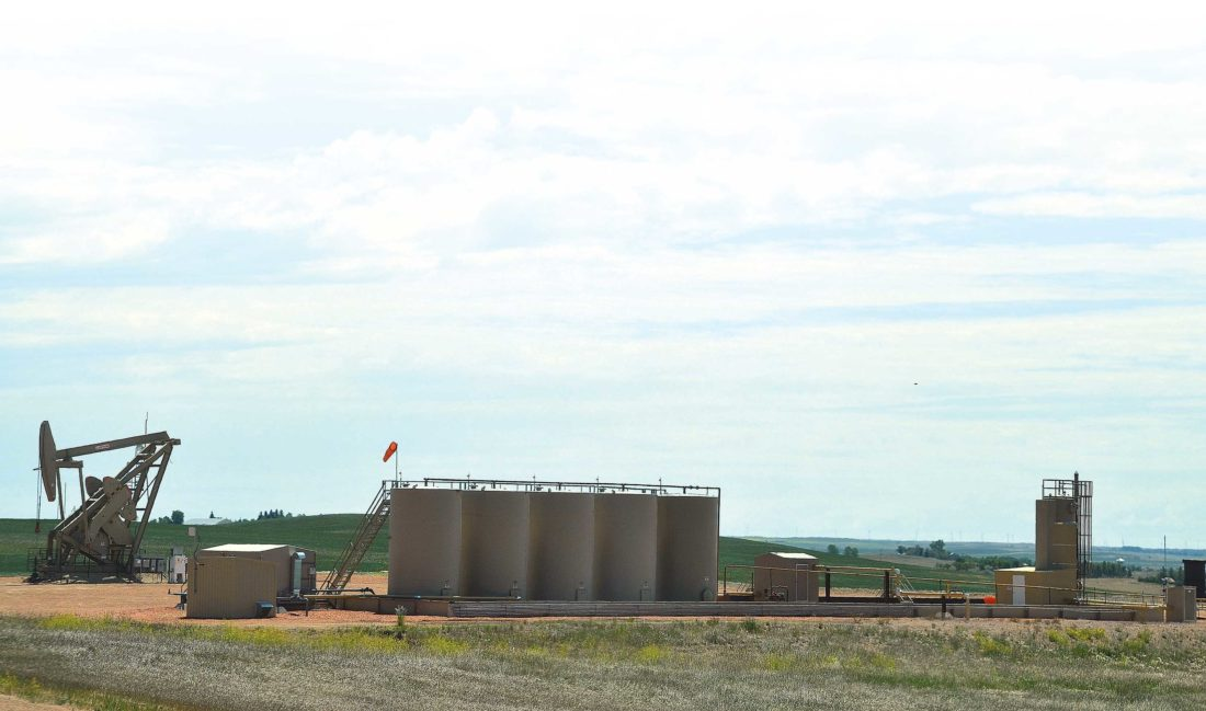 The state's oil production has increased slightly. This photo was taken in the Medora area in southwest North Dakota. Lynn Helms, director of the North Dakota Department of Mineral Resources, said the oil price weakness is now anticipated to last through calendar year 2017.  Eloise Ogden/MDN