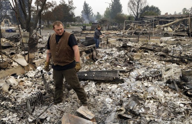 California wildfires reduce dreams to embers as flames grow
