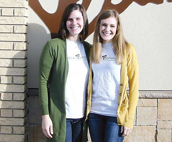 Andrea Johnson/MDN Caleb's Clubhouse executive director Shannon Schmidt, left, and director Kelsey Kittelson pose outside the inclusive preschool last week. More information about Caleb's Clubhouse can be found online at https://www.cchminot.org/