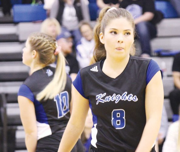 Alex Eisen/MDN Our Redeemer's senior Ryleigh Popinga picked up her 1,500 career dig.