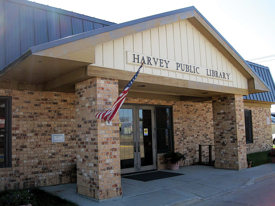 Submitted Photo The Harvey Public Library home to the ghost of Sophia Eberlein.