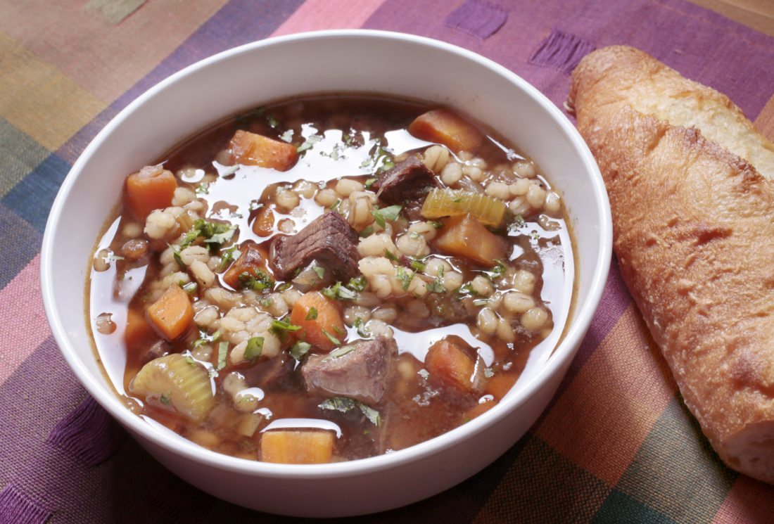 Beef with barley soup is a great soup made with fresh carrots and pearl barley. Dave Wallis / The Forum
