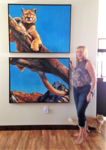 Kathy with Cougar (2)