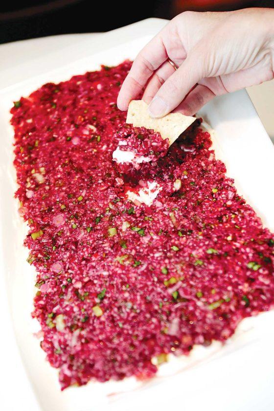 "Forum News Service Jean Eppler created a contest-winning dip at Sarello's called ""Cranberries Gone Wild""."