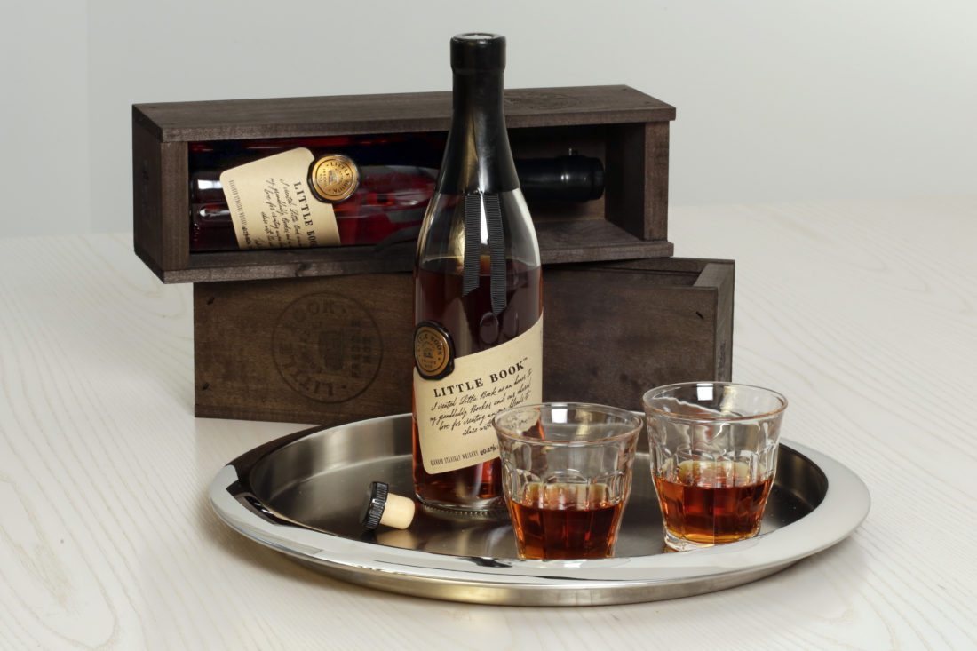 "Little Book ""The Easy"" Blended Straight Whiskey, crafted by Freddie Noe, son of 7th Generation Beam Master Distiller Fred Noe, is photographed in New York, Thursday, Oct. 2, 2017. It features uncut and unfiltered Kentucky Straight Bourbon blended with corn whiskey, rye whiskey, and malt. (AP Photo/Richard Drew)"