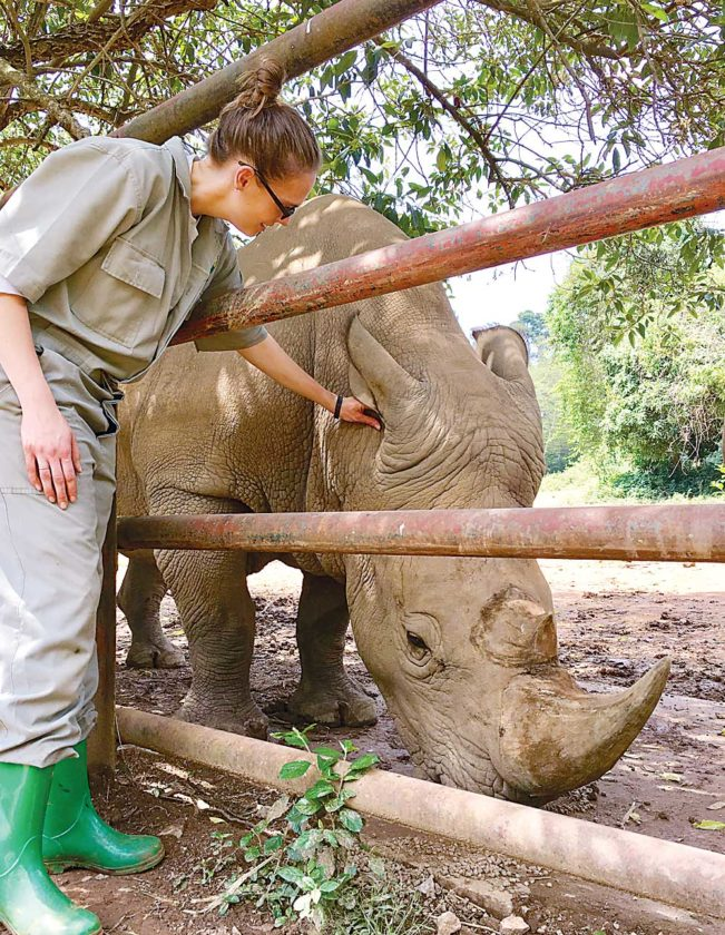Submitted Photo Allison Suda, lead African hoofstock zookeeper at Roosevelt Park Zoo, in Minot, recently visited Kidepo Valley National Park in Uganda, Africa.