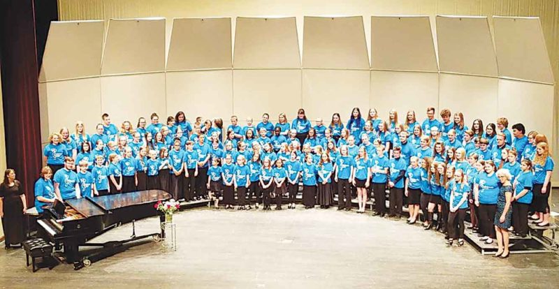 "Submitted Photo Choir in the Spring doing ""A World in Harmony – Benefit for Haiti"" concert."