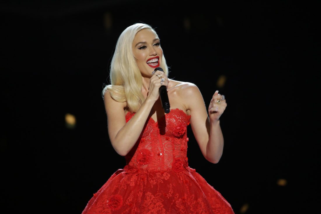 """This image released by NBC shows singer Gwen Stefani in her Christmas special, """"Gwen Stefani's You Make it Feel Like Christmas,"""" airing Dec. 12 at 9 p.m. ET on NBC. (Paul Drinkwater/NBC via AP)"""