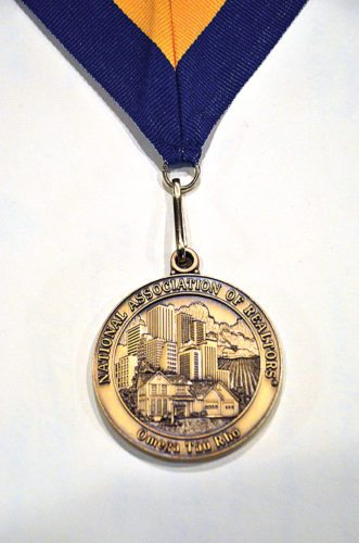 The Medallion of Service Award is presented to those inducted into the National Association of Realtors prestigious Omega Tau Rho fraternity.  Submitted Photo