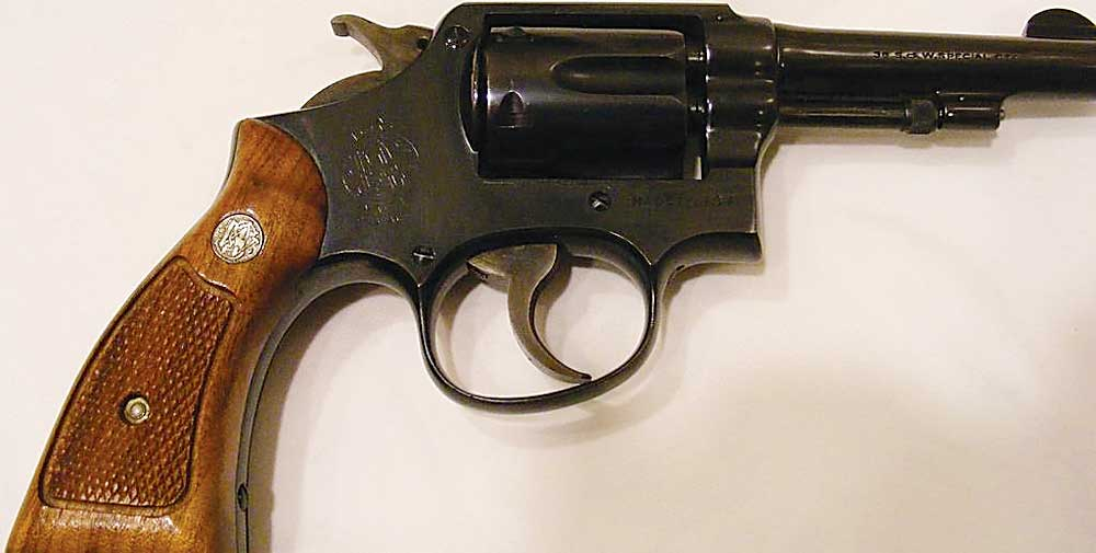 Kim Fundingsland/MDN This Smith & Wesson revolver was carried on the streets of New York by a father and son who were New York City policemen, making it a very interesting piece for certain gun collectors.